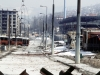 Overall view of downtown  Grbavica, a suburb of Sarajevo.  These apartments and houses once occupied by Bosnia Serbs are the last group to be turned over to the Muslims as required by the recent Dayton Peace Accord which produced a cease fire and permanent borders.