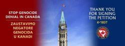 Završen proces potpisivanje peticije protiv negiranja genocida u Srebrenici u Kanadi