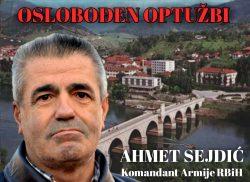 Izjava povodom oslobađanja komandanta Ahmeta Sejdića za zločine u Rudom i Goraždu