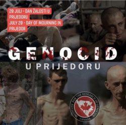 Proglasite 20. juli Danom žalosti za nevino ubijene žrtve genocida u Prijedoru