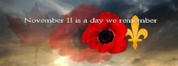 November 11. Remembrance Day