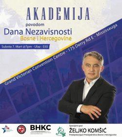Dolazak predsjedavajučeg Predsjedništva BiH Željka Komšića u Kanadu