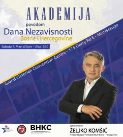 Akademija povodom Dana nezavisnosti BiH u Torontu