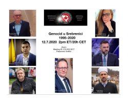 Srebrenica genocid -25 godina poslije (online tribina)