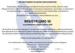 Registrujmo se za Lokalne izbore u BiH 2020.