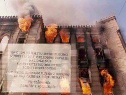 Srpski agresor je prije 28 godina zapalio Vijećnicu: Noć kada su barbari pucali u knjige